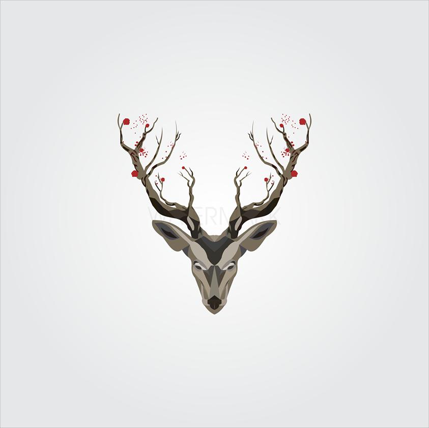 Swamp Deer Illustration