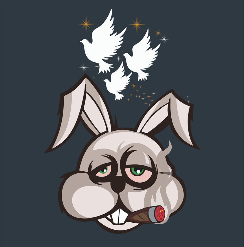 Bunny with Cigar