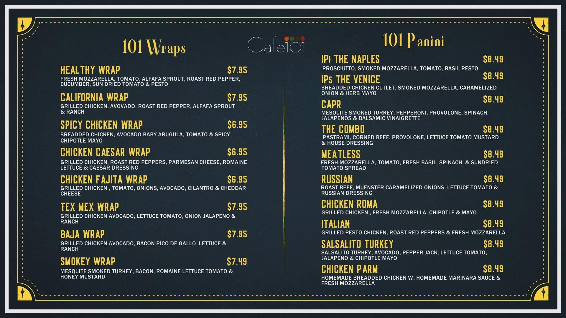 101 Wrap & Panini by GoDesign.pk