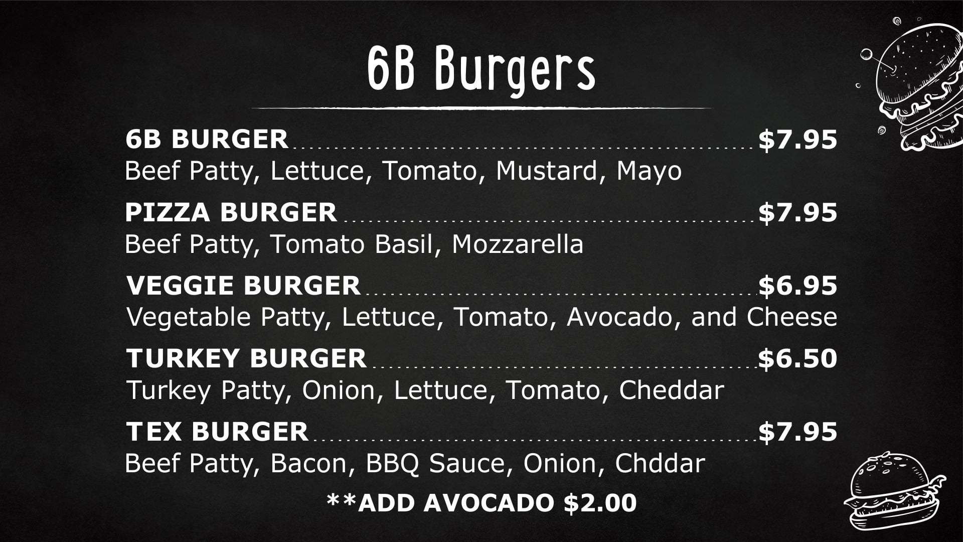 6b Burgers by GoDesign.pk