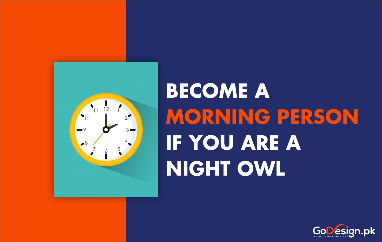 Become a morning person if you are night owl
