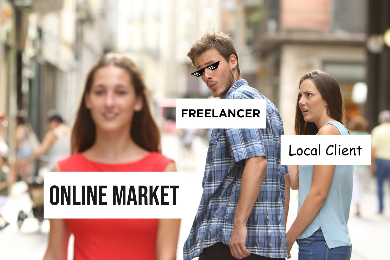 Local Client vs Online Market for Freelancers from GoDesign.pk How to use memes in marketing