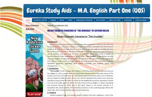 Eureka Study Aids - M.A. English Part One (UOS)