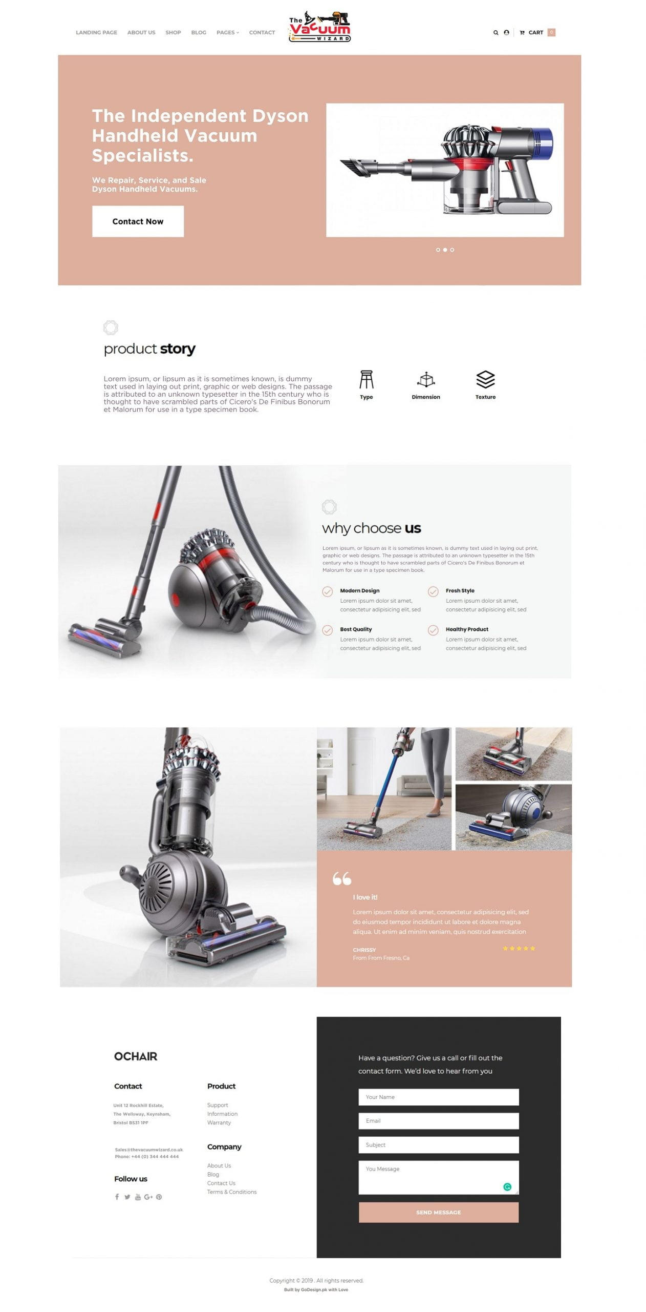 The Vacuume Wizard Cleaning Products by GoDesign.pk