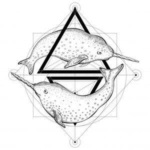 narwhals-tattoo-geometry-vector-illustration-with-triangles-sea-animals-sketch-logo-hipster-vintage-style_144101-419