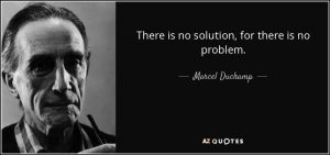 You won't find a solution by saying there is no problem.