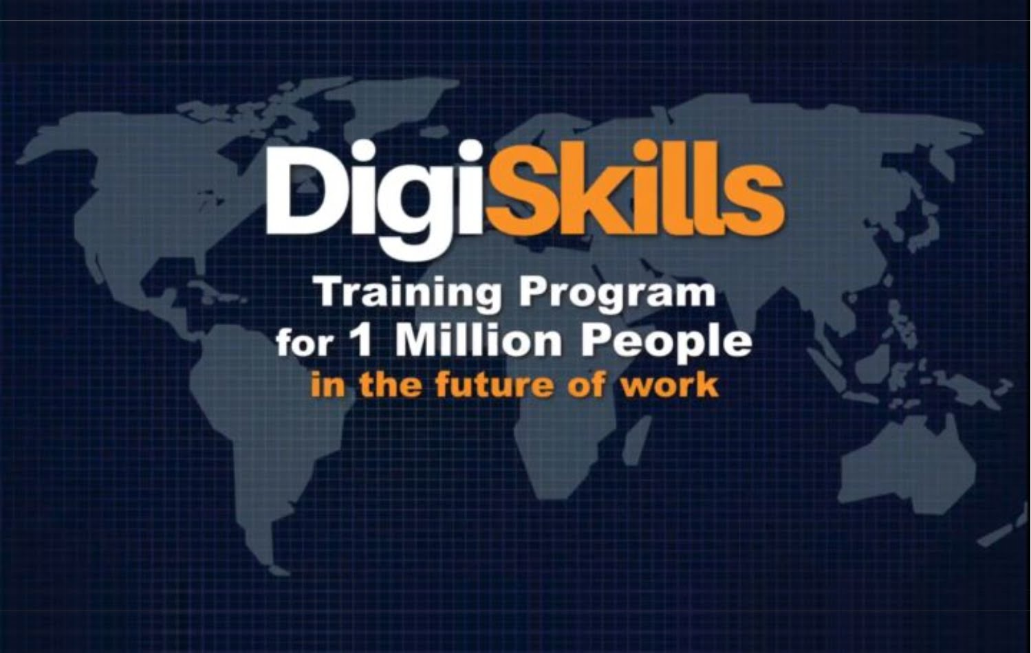 Digiskills training program for 1 million people in the future of work
