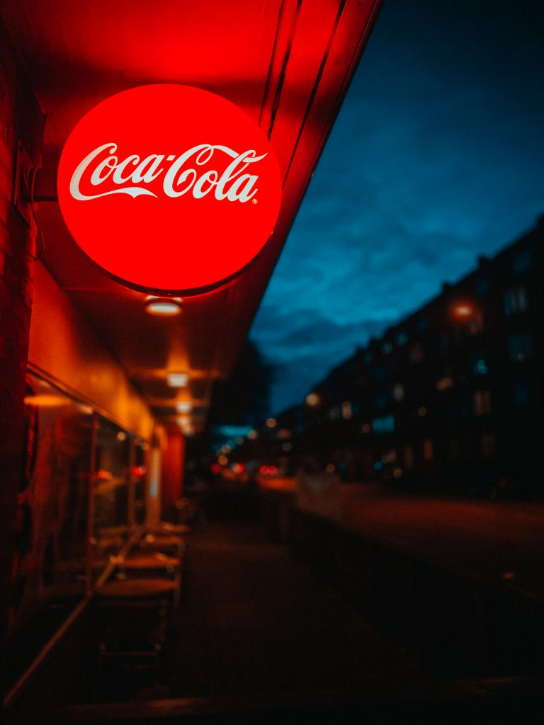 Coca cola light signage during night time